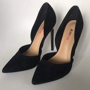 JustFab Monika Black Heels